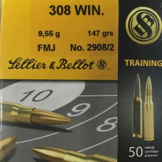 Патрон Sellier & Bellot FMJ 308 Win 9,55г Training (50шт)